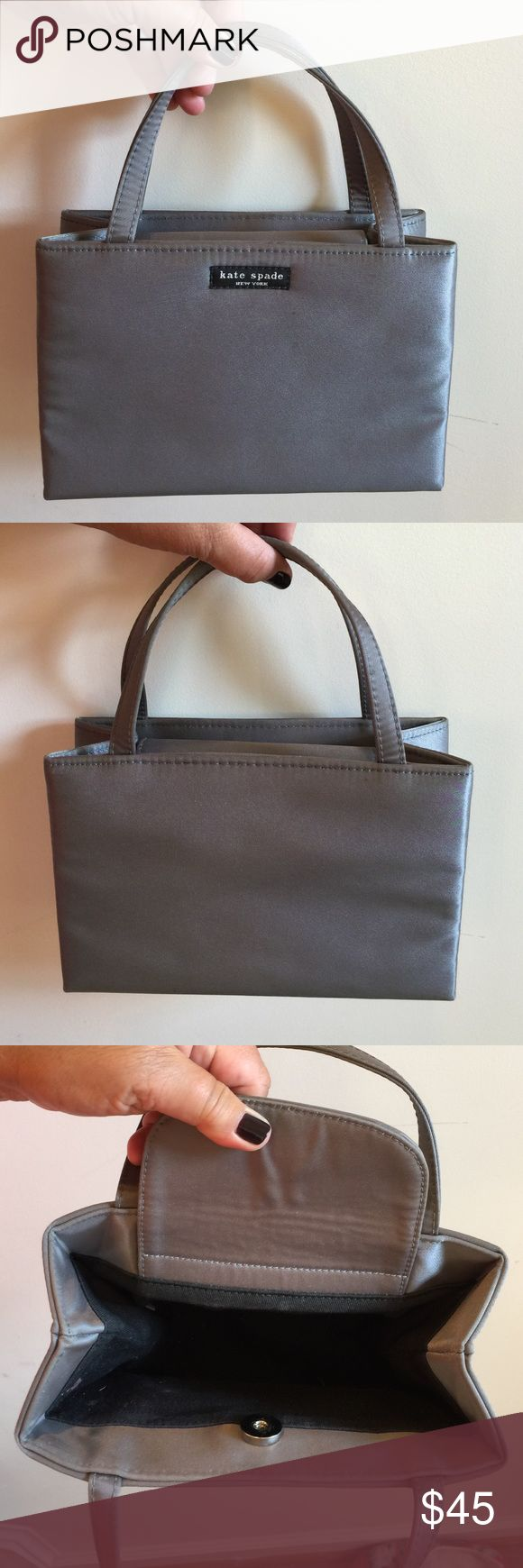 Kate Spade Mini Sam Steele Grey Bag Classic evening bag. Good condition. kate spade Bags Mini Bags