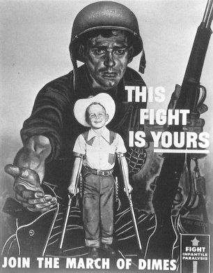 March of Dimes Polio Posters | March of Dimes poster to raise funds for the fight