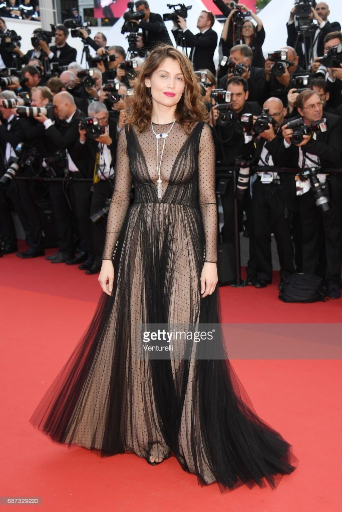 Laetitia Casta attends the 70th Anniversary of the 70th annual Cannes Film Festival at Palais des Festivals on May 23, 2017 in Cannes, France.