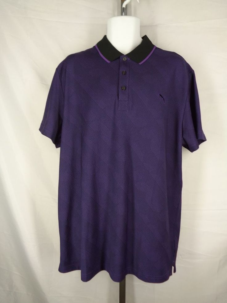 Puma Sport Lifestyle Dry Cell Purple Polo Shirt Size XXL 2XL  | eBay