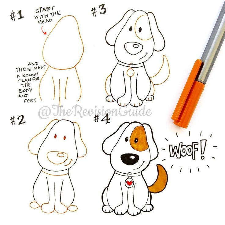 how to draw a dog with a stick man