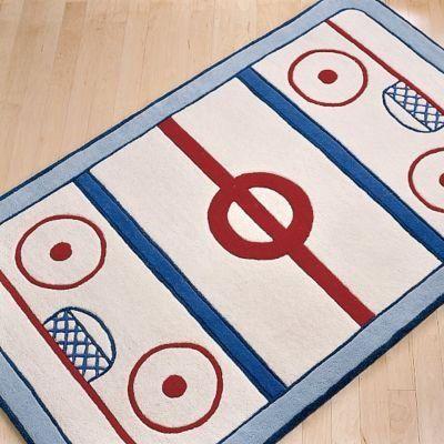 Ice Hockey Rug For Kids Room Hockey Room Pinterest