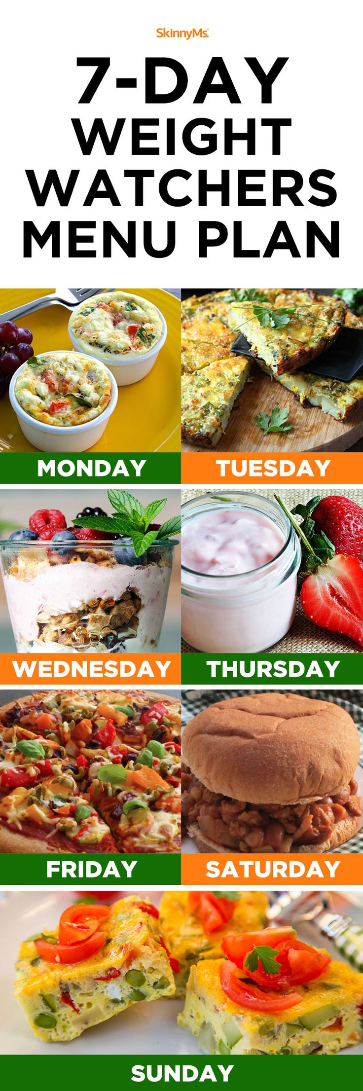 7 Day Weight Watchers Menu Plan!#weightwatchers#menu