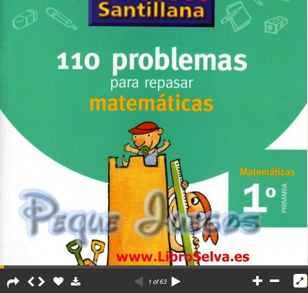 110 Problemas Matemáticos para 1er Grado de Primaria   #Presentación #Educación