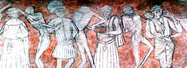 Danse macabre Fresco at La Chaise-Dieu
