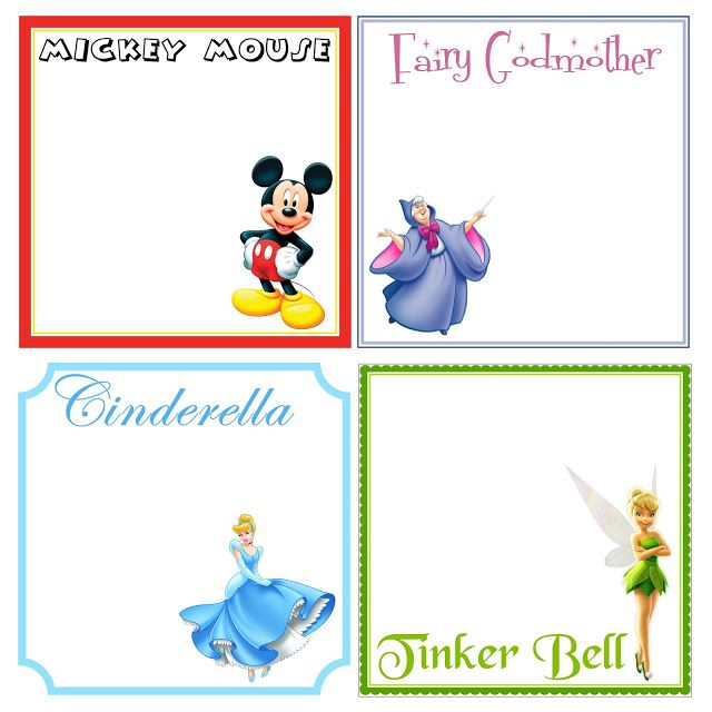 {It's A Muegge Life}: Disney Custom Autograph Books - Printable pages with Disney character clip art!