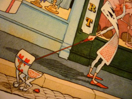 "Gilles Bachelet illustration (detail) from ""Madame Le Lapin Blanc""."