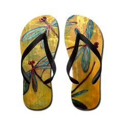 Gorgeous original design dragonfly thongs! #thongs #jandals #flipflops #dragonfly