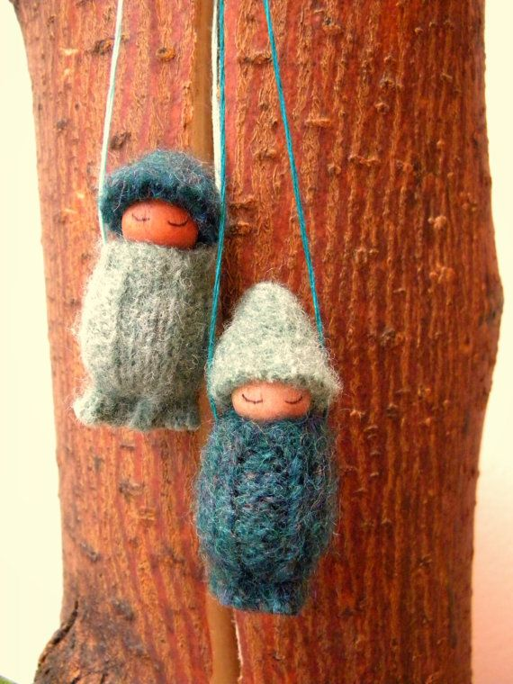 SALE Waldorf Gnome Holiday Ornaments Waldorf Baby by MamaWestWind