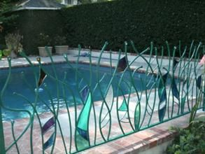 Designer Glass Pool Fencing 41 best stained glass fences gates images on pinterest stained stained glass fence workwithnaturefo