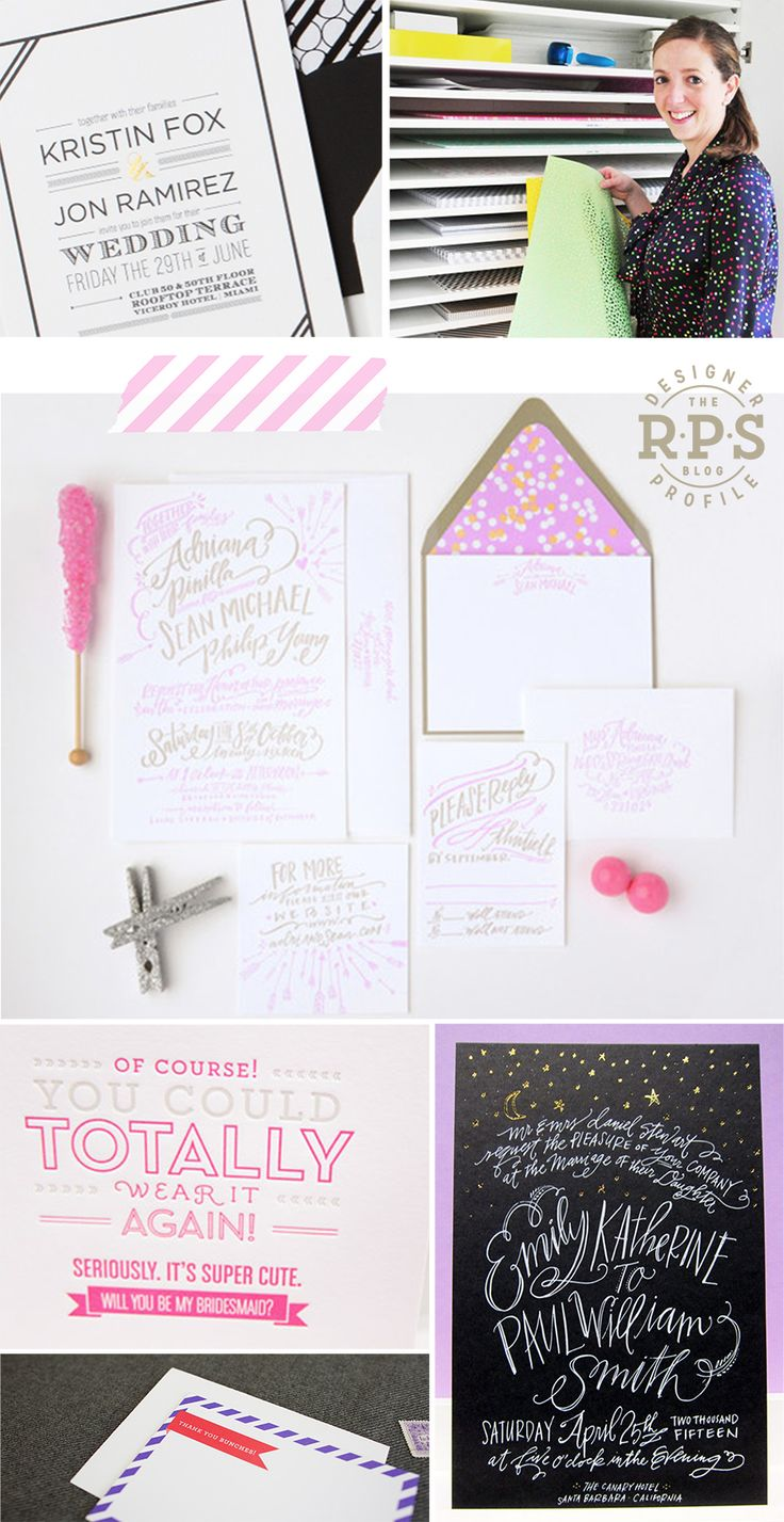 RPS Designer Profile | Fig. 2 Design | #letterpress #wedding #invitation