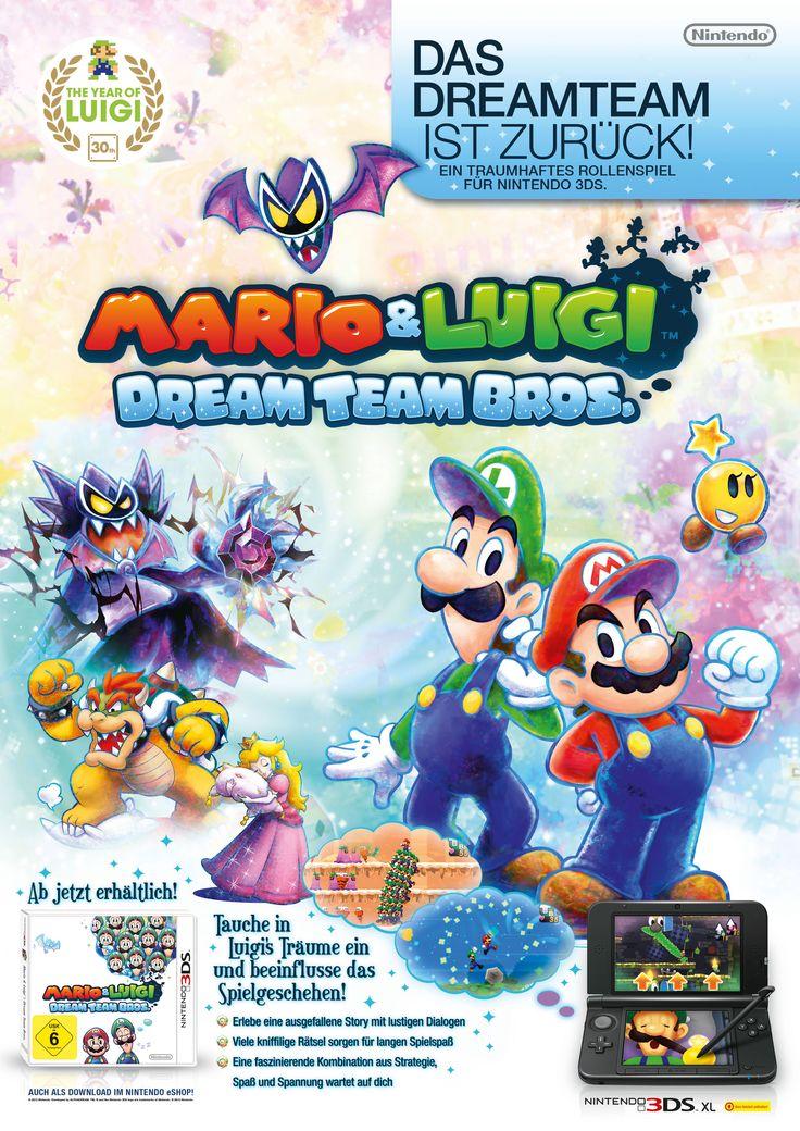 Advert . Mario&Luigi - Dream Team Bros. . Nintendo 3DS