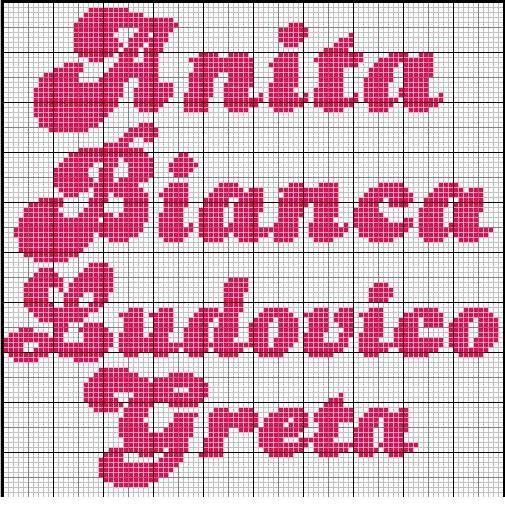 ricamo nome Bianca - Cerca con Google