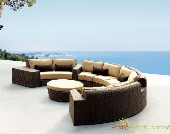 patioproductions synthetic resin wicker for outdoor furniture sofa
