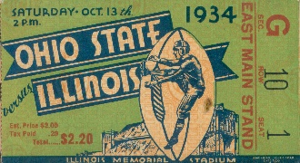 Ohio State football ticket. http://www.shop.47straightposters.com/1934-OHIO-STATE-VS-ILLINOIS-1934IOS.htm