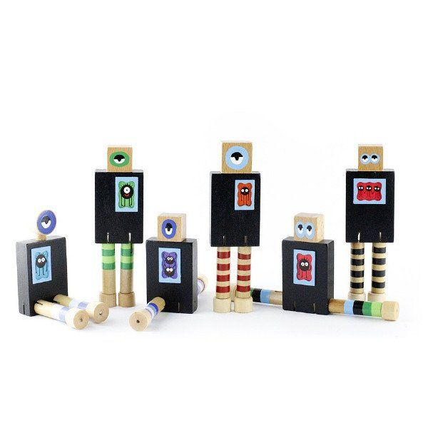 PRODUCTS :: KIDS :: TOYS :: Wooden toys :: Wanderlust Chalk Board Monsters