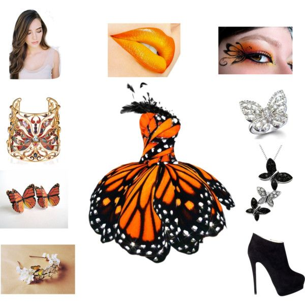 """""""Butterfly Dress"""" & Makeup. Wish I could wear this for Halloween!!! Such a pretty costume!"""