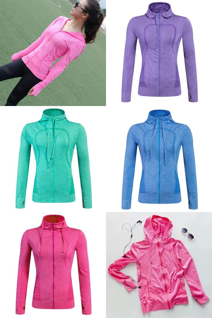 [Visit to Buy] S-XL Plus Size Quick-Dry Women Sports Shirts Gym Female Fitness Zipper Hoodies Functional Workout Running Ladies Yoga Clothing #Advertisement