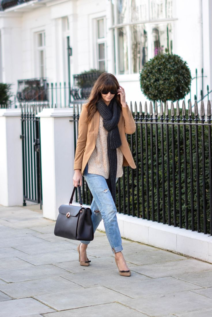 neutrals. love the brown with the distressed boyfriends jeans and heels