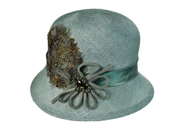 Plume Cloche | This piece takes the classic cloche to a whole new level  #hat #womensfashion #accessories #silkroadexpo SilkRoadEXPO.com