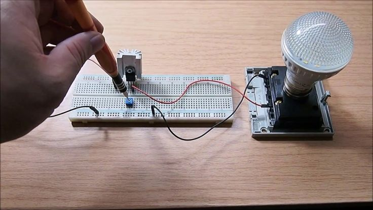 The simplest led dimmer circuit diagram
