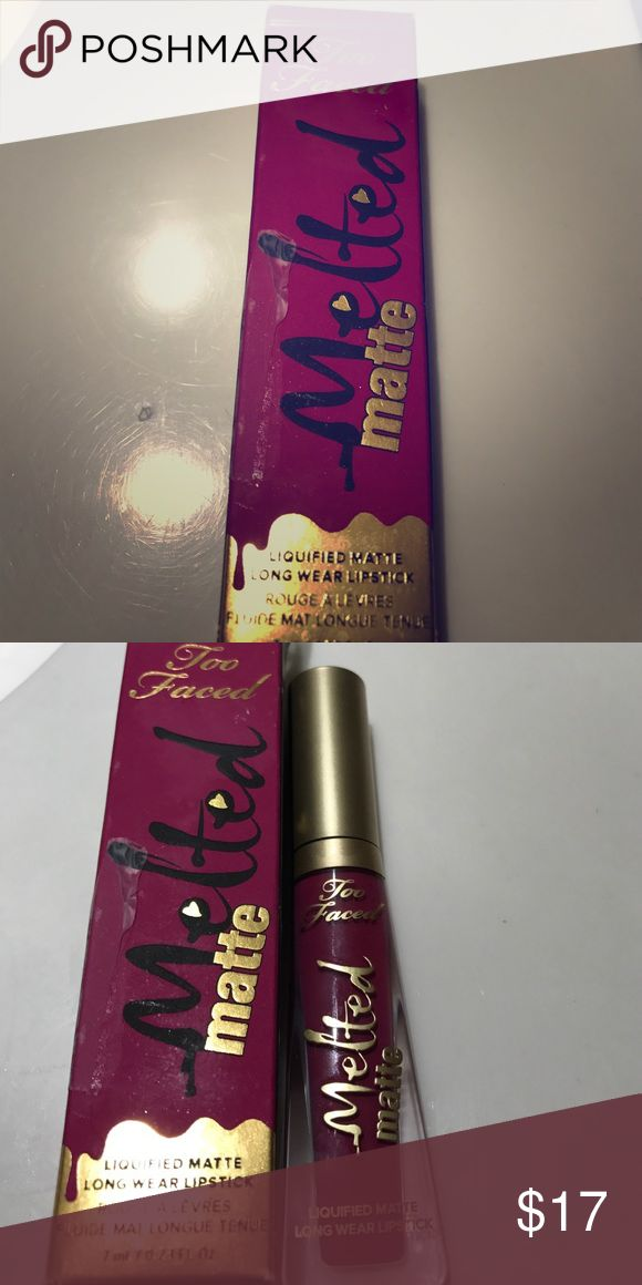 Too faced melted matte in bend and snap Brand new. Used twice in winter. No trades Too Faced Makeup Lipstick