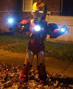 Iron Man Costume | Click for 30 DIY Halloween Costumes for Kids to Make | DIY Halloween Costumes for Toddlers
