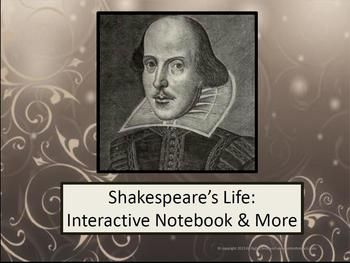 This product is designed to give students a background on Shakespeare, by presenting information on his life - - from his birth through his playwright years. Topics included:His birth and early years (including early education & education of children of his time)How his life in the country influenced his writingThe Lost Years (including theories of why he disappeared, as well as what he might have been doing during that time)How Shakespeare and Lord Chamberlain's Men entertained the ...