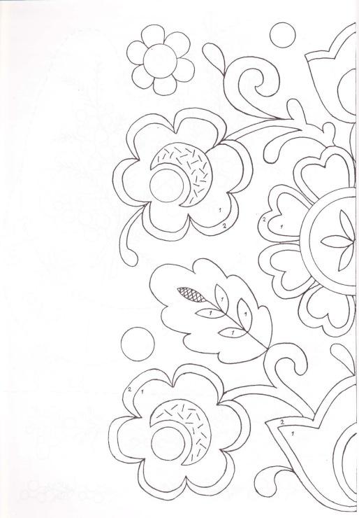 Flores hngaras patrones bordado mexicano t Bordado