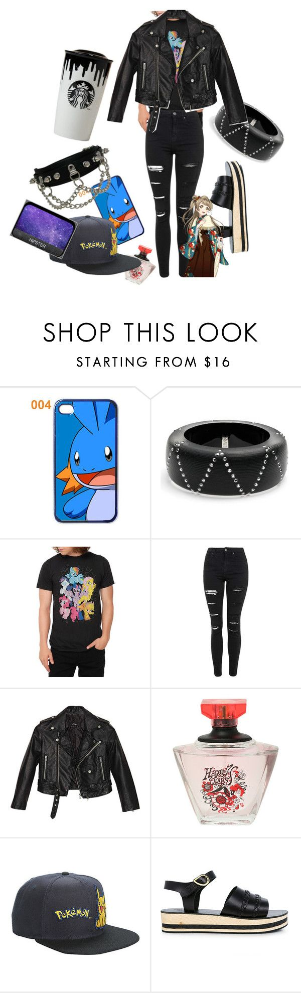 """""""red flags and long nights"""" by toyherb ❤ liked on Polyvore featuring Alexis Bittar, My Little Pony, Topshop, Nasty Gal, Ancient Greek Sandals and Band of Outsiders"""