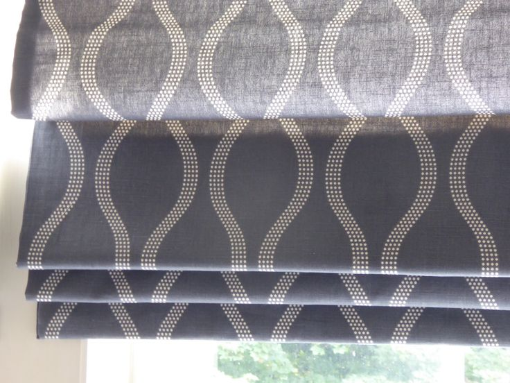 Bedroom 'Drift' Roman Blinds