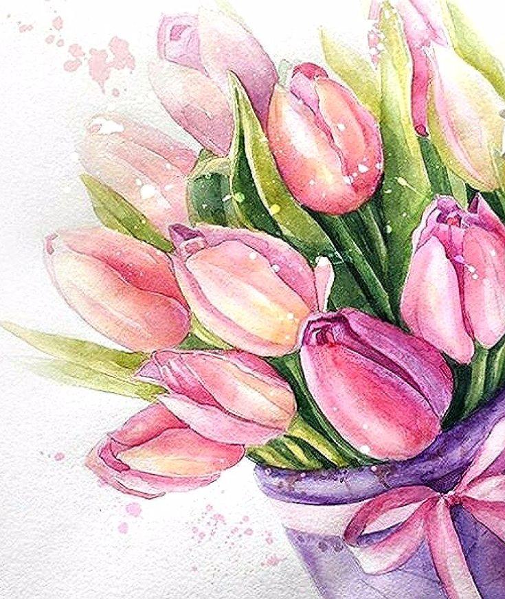 картинка открытка нарисовать цветы
