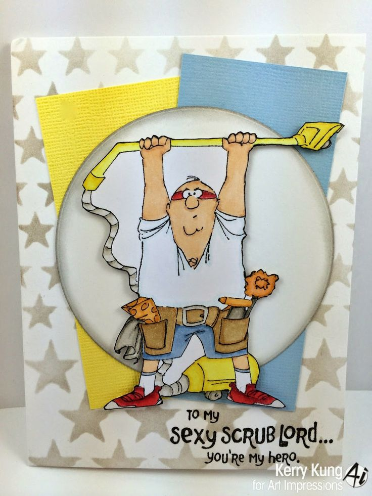 Scrub Lord set (SKU# 4376) from Art Impressions.  Ai Heroes.  Masculine card.  (Father's Day, Birthday)