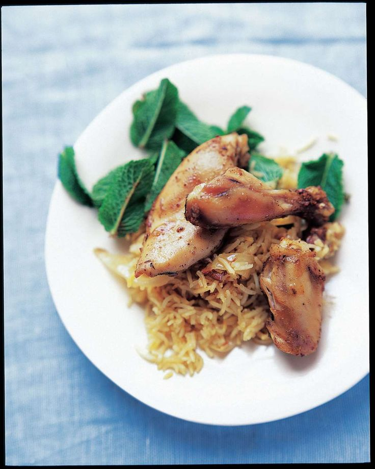 Persian chicken with saffron rice pilaf by Anjum Anand from Eat Right For Your Body Type | Cooked