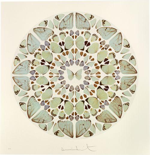 Damien Hirst, Psalm Print: Exaudi, Domine (diamond dust), 2009 via Things that Quicken the Heart: Circles - Mandalas - Radial Symmetry III