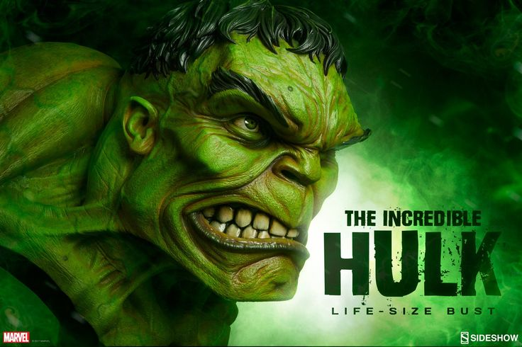 Marvel The Incredible Hulk Life-Size Bust You wouldn't like him when he's angry. Hulk SMASH? Well, this time it's Hulk BUST! Sideshow is proud to unveil The Incredible Hulk Life-Size Bust to make others green with envy over your impressive collection. This simply smashing superhero has been brought to life in epic 1:1 scale, straight …
