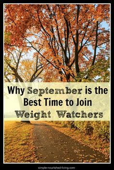 Why September is the best time to join weight watchers…