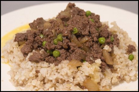 Wa Dan Oyok Fan - Chinese Minced Beef with Egg over Rice