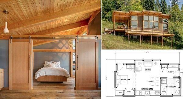 prefab timber house 550sft