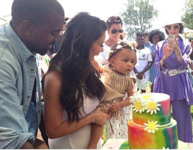 Kim Kardashian, Kanye West à l'anniversaire de North West