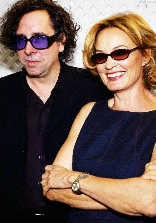 Jessica Lange and Tim Burton