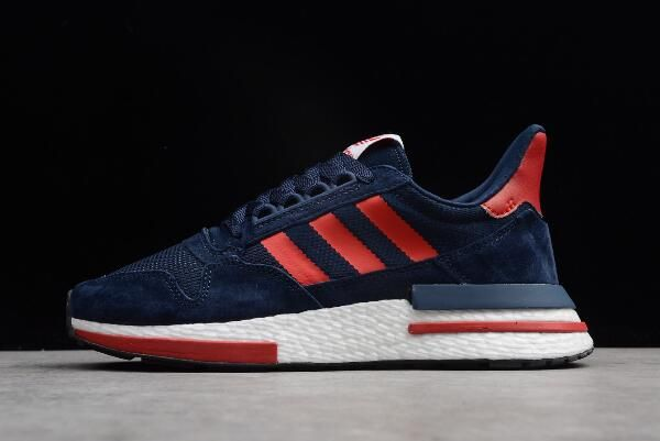 online store 16af9 c02f3 New adidas ZX500 RM Boost Navy Blue/Red-White BB7446 | $hoe ...