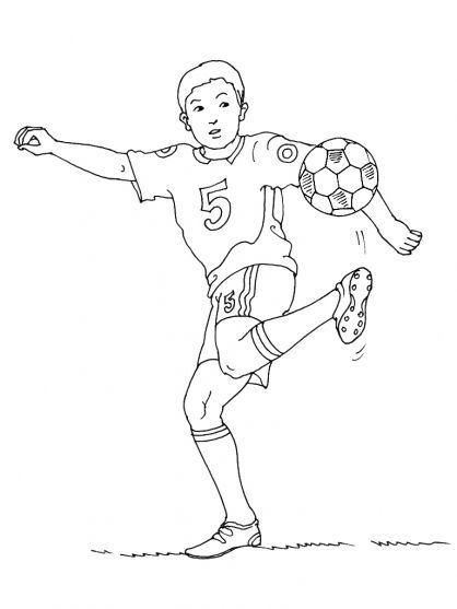 Kleurplaten Rode Duivels Voetbal.Kleurplaten Voetbal Football Thema Sport Voor Kleuters
