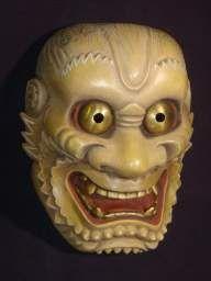 Noh mask Raiden