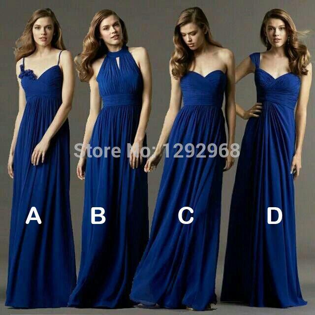 Nieuwe Custom kleur & Maat! sweet 4 stijl lange bruidsmeisjekleding vele kleuren trouwjurk, Prom jurk feestjurk vrouwen Plus size