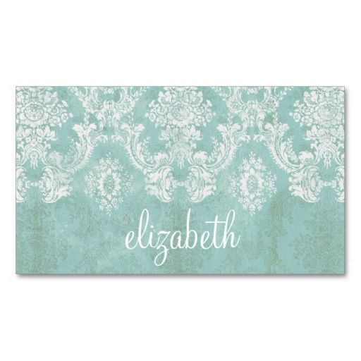 41 best business card idea images on pinterest business cards ice blue vintage damask pattern with grungy finish business card reheart Choice Image