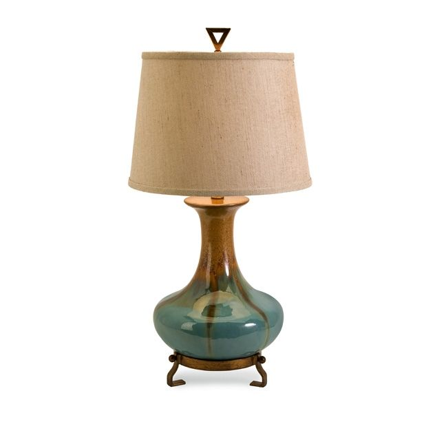 Product Sku :29561     Stylish turquoise and golden brown ceramic tabletop lamp Dimensions:  30h x 12w x 15This item is non returnable but shipping is included. Damaged product by courier will be replaced however.        Ships to UsCanada only