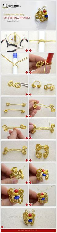 Jewelry Making Tutorial-How to DIY Bee Ring with Wire | PandaHall Beads Jewelry Blog