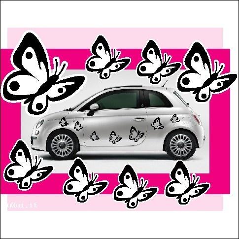 14 adesivi farfalla-decalcomanie per auto prespaziati - 27,10€ - SuQui Shopping by logolook