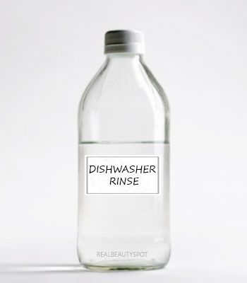 Homemade Dishwasher Rinse that is antibacterial, making your dishes sparkling clean, and it also leaves glasses spot-free and clear.  http://www.realbeautyspot.com/quick-tips/homemade-dishwasher-rinse/